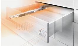 Ray âm Blum MOVENTO giảm chấn mở toàn phần 350mm 40kg có thể tích hợp nhấn mở 433.24.054