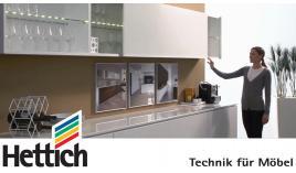 Hệ trượt cánh cho tủ bếp Slide Line M dày 19mm Hettich KD770-M