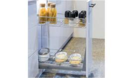 Bộ rổ kéo cho tủ hẹp 150mm Venice Hafele 549.34.022