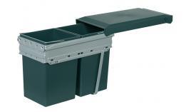 Thùng rác đôi cho tủ rộng 300mm Hafele 502.72.761
