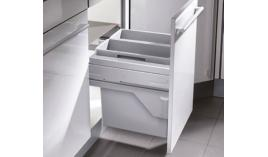 Thùng rác đôi có ray kéo cho tủ rộng 450mm Hafele 502.73.901