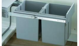 Bộ thùng rác nhựa 20L x 2 Hettich RR474-P
