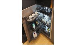 Bộ kệ đựng thực phẩm Tandem Pantry R600xC800mm 3 khay màu đen Hafele 545.93.436