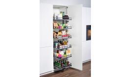 Bộ kệ đựng thực phẩm Tandem đơn R450xC1800mm 5 khay trắng Hafele 549.77.794