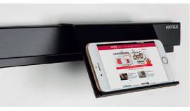 Kệ treo máy tính bảng màu đen R143xS45xC106mm Hafele 523.00.320