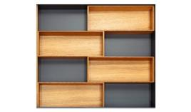 Khay chia gỗ Hafele Fineline cho ngăn kéo R450mm 556.05.413