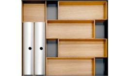 Khay chia gỗ Hafele Fineline cho ngăn kéo R600mm 556.05.415