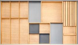 Khay chia gỗ Hafele Fineline cho ngăn kéo R900mm 556.05.418