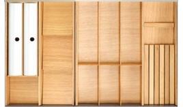 Khay chia bằng gỗ cho ngăn kéo R1200mm Hafele 556.05.419