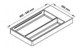 Khay chia nhựa Separado R300mm màu inox xước Hafele 556.70.140