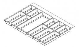 Khay chia Classico xám đậm cho tủ kéo bếp 800mm Hafele 556.52.248