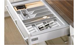 Khay chia OrgaTray 410 bạc cho ray hộp Innotech Hettich OT900-S1
