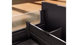 Thanh chia hộc tủ đen Blum Z40L1077A 553.96.319