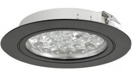 Đèn led LOOX 3001 5000k lắp âm nổi dạng tròn đen 24V 833.75.007