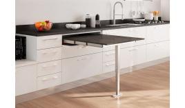 Phụ kiện bàn kéo mở rộng với chân bàn đơn gấp lại được cho tủ R900mm Hafele 505.74.921