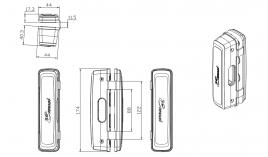 Bas khóa điện tử ER4400 cho cửa kính Hafele 912.05.730